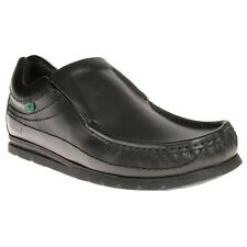 New Mens Kickers Black Fragile Slip On Leather Shoes Loafer