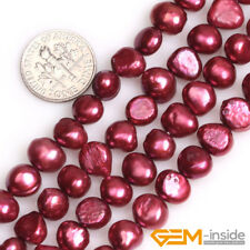 "7-8mm Freshwater Gemstone Pearl Freeform Beads For Jewelry Making Strand 13"" YB"