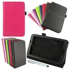 Leather Flip Case Cover Skin Stand Fold For Samsung Galaxy Tab 3 7.0'' P3200+Pen
