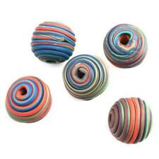 Fashion Colorful Polymer Clay Fimo Twine Ball Spacer Beads Charms DIY Findings