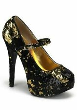 Pleaser TEEZE-07SQ 5 3/4 Inch Heel Maryjane With Concealed Platform And Sequins