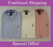 NEW Polo Ralph Lauren Long Sleeve Oxford Slim Fit Button Down Shirt For Women