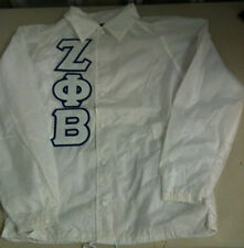 ZETA PHI BETA WHITE LINE JACKET SMALL MED LARGE XL 2XL One Greek Store Clearance