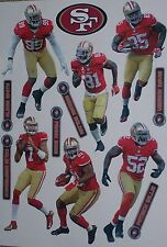 "San Francisco 49ers Mini FATHEAD Official NFL Vinyl Wall Graphic 7"" PICK ONE"