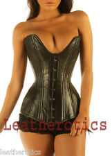 Real Leather DOUBLE STEEL BONED corset 8258 size 0 2 4 6 8 10 12 14 16