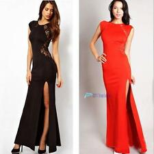 Women Trendy Sexy Elegant Slim Long Maxi Lace Gown Evening Cocktail Party Dress