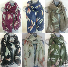 New Ladies Lucky DRAGONFLY Scarf scaves Hijab Wrap ~ 6 Gorgeous Colours