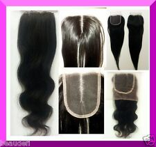 100% Brazilian Virgin Remy Human Hair Lace Top Closure**From USA Fast Shipping**