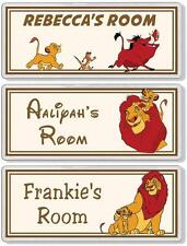 The Lion King Personalised Bedroom Door Plaque / Sign *ANY NAME / MESSAGE*