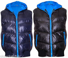 Mens Gilet Padded Hooded Quilted Body Warmer Sleeveless Jacket