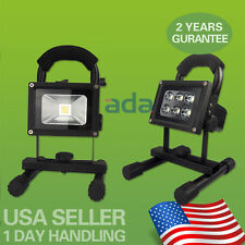 CORDLESS RECHARGEABLE LED FLOOD SPOT WORK LIGHT LAMP WEATHER RESISTANT NEW