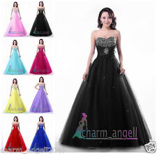 Angel A-Line Long Formal Prom Dress Quinceanera Ball Gown Sweet Sixteen Dresses