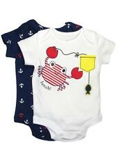 Boys Infant 2 Pack of Crab and Sailing Anchor Bodysuits by Baby Starters