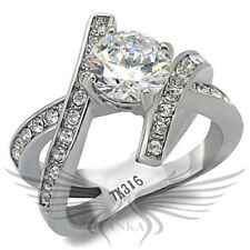 ROUND SOLITAIRE ENGAGEMENT RUSSIAN LAB CREATED SIM DIAMOND WEDDING RING TK169 *