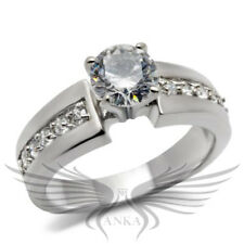 1c ROUND SOLITAIRE ENGAGEMENT RUSSIAN LAB CREATED SIM DIAMOND RING WEDDING TK068
