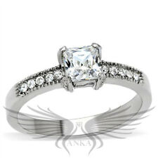 PRINCESS SOLITAIRE ENGAGEMENT RUSSIAN LAB CREATED SIM DIAMOND RING WEDDING TK199