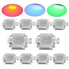 Lots 10W watt high power RGB change colors led SMD chip bead bulb light for DIY