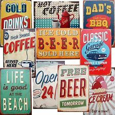 RETRO WALL ART VTG PICTURE PAINTING ADVERTISING SIGN CANVAS PRINT PLAQUES CHOICE