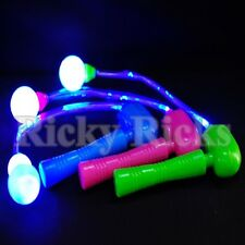 Light Up Spinning Ratchet LED Ball Fiber Optic Matracas Wand Stick Flashing Show