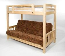 Twin XL over Full XL Freedom  Futon Bunk Bed with Optional Golden Oak Finish