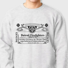 DETROIT FIREFIGHTERS Kings of Fire T-shirt Fireman Beer Crew Neck Sweatshirt