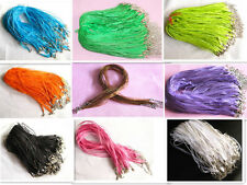 Wholesale 10pcs lot/bulk Organza Voile Ribbon Necklace Silk Cord Clasp 45cm+5cm