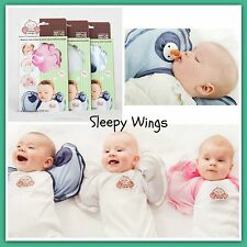 Sleepy Wings Baby Swaddle with Dummy Pockets - BNIB Pink, White, Blue in S M L