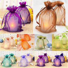 15 Colors 25Pcs Organza Wedding Favor Gift Bag Pouch Jewelry Package Sachet New