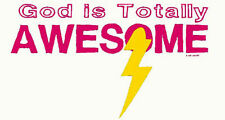 God is Totally Awesome Lightning T-Shirt PLUS SIZE or SUPERSIZE T435F Rhinestone