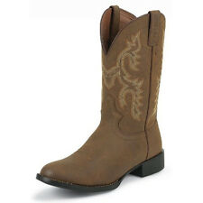 Justin Crazy Cow Mens Western Boots - brown