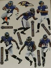 "Baltimore Ravens Player Mini FATHEAD Official NFL Vinyl Wall Graphic 7"" PICK ONE"