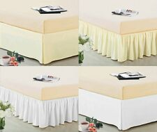 "14"" Drop Dust Ruffle Ruffled Bed Skirt Box Spring Cover Machine Wash Dry"