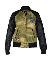CROOKS AND CASTLES LES VOLEURS CAMO MOTORCYCLE JACKET