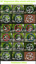 "Pair of 26"" 26 inch mountain bike bicycle Magnesium alloy wheels mag wheels"