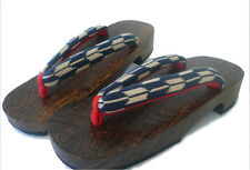 Japanese Women's Geisha Yukata Kimono Wooden Geta Sandal Yaban Pattern (2 Sizes)