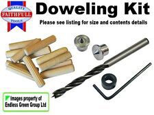 DOWELING KIT incl Wood Drill Bit, Stop Collar, Centre Points & Dowels - CHOICE