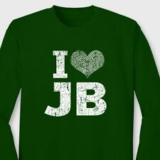 I Love JB funny Heart Justin Bieber T-shirt novelty Gift Long Sleeve Tee