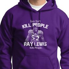 Guns Don't Kill People Ray Lewis Does T-shirt jersey Ravens Hoodie Sweatshirt