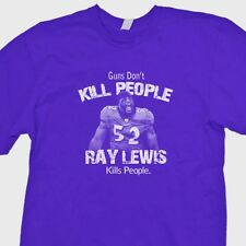 Guns Don't Kill People Ray Lewis Does T-shirt jersey NFL Ravens Tee Shirt