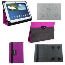 "Purple Flip Leather Wallet Folio Case Stand Cover for 9""-10.1"" Tablets"