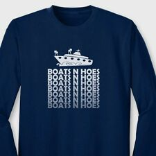 BOATS N HOES Funny Dad T-shirt Step Brothers SNL Will Ferrell Long Sleeve Tee