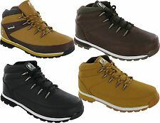 MENS GENTS HIKING WALKING WINTER ANKLE BOOTS BOYS SCHOOL SHOES TRAINER WORK SHOE