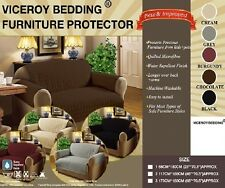 Luxury Quilted BROWN SOFA / SETTEE Furniture Chair Protector Cover THROW