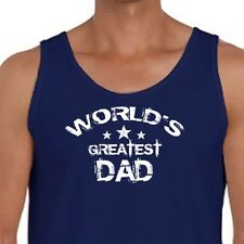 WORLDS GREATEST DAD Birthday Anniversary T-shirt Fathers Day Men's Tank Top