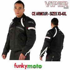 VIPER TEXTILE JACKET MOTORCYCLE MOTORBIKE SCOOTER WATERPROOF CE ARMOUR JOURNEY