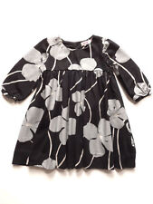 Kit & Lili Cotton Black/Silver Baby & Toddler Dress Sizes 12M-3Y $62-$64 NWT