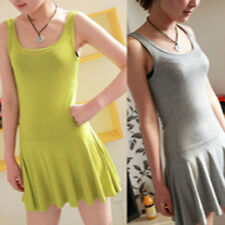 Candy-colored sleeveless vest dress Dress child dress pleated skirt Slim woman A
