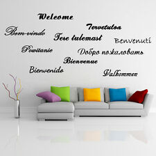 Welcome Word Text on Ten 10 Languages Wall Sticker Decor Decal DIY Mural Art