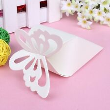 50pcs/set Butterfly Favor Gift Candy Boxes Cake Style for Wedding Party 3 Colors