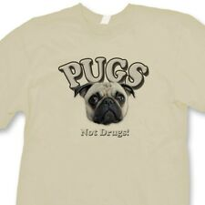 Pugs Not Drugs Funny Anti Drug T-shirt Dogs Pet Lovers Tee Shirt